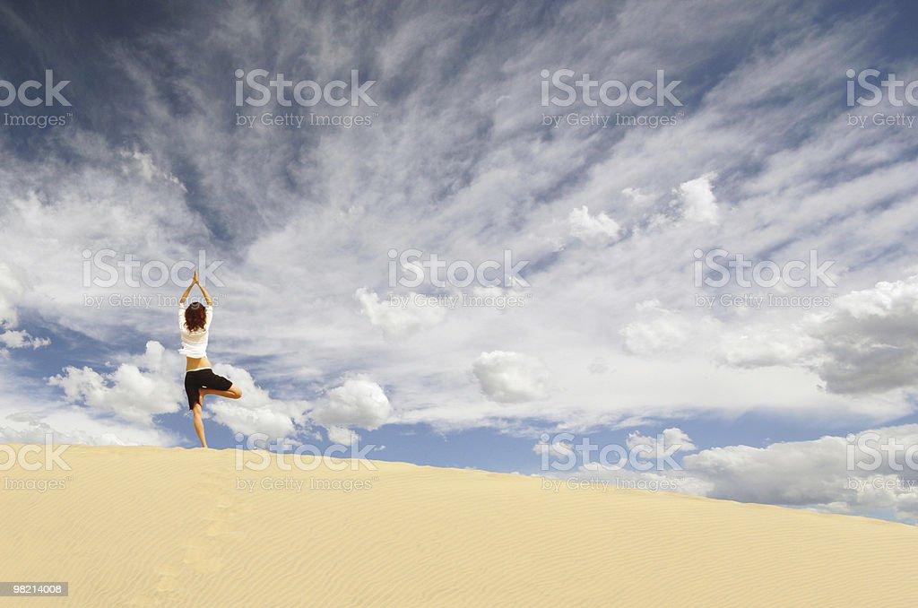Dune Yoga royalty-free stock photo
