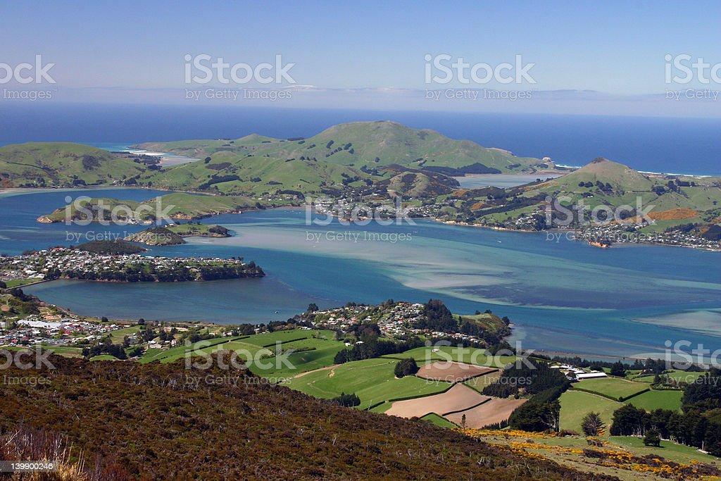 Dunedin City Peninsula stock photo