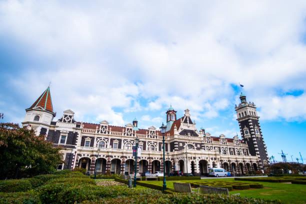 Dunedin Railway Station, Dunedin, Neuseeland. – Foto