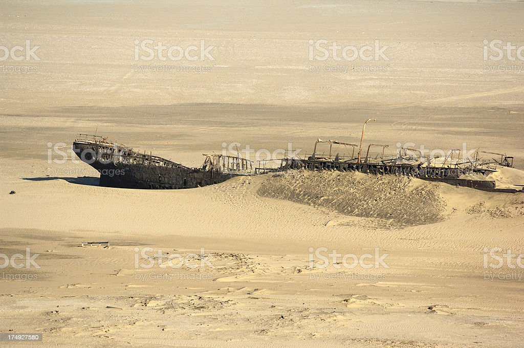 Dunedin Star Shipwreck in the desert stock photo