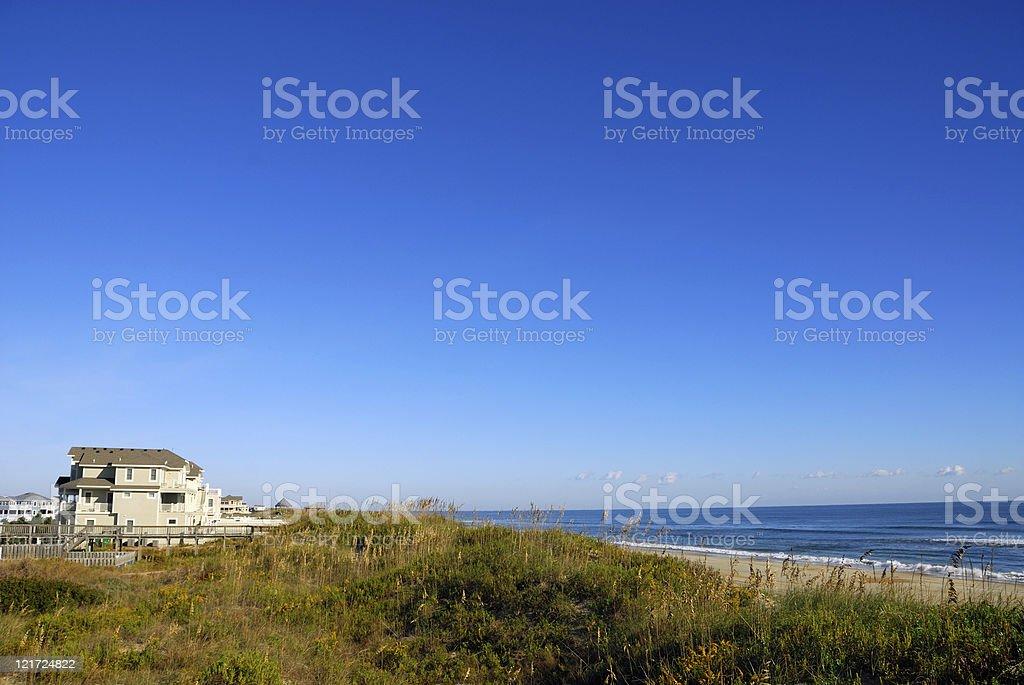 Dunefront Property royalty-free stock photo