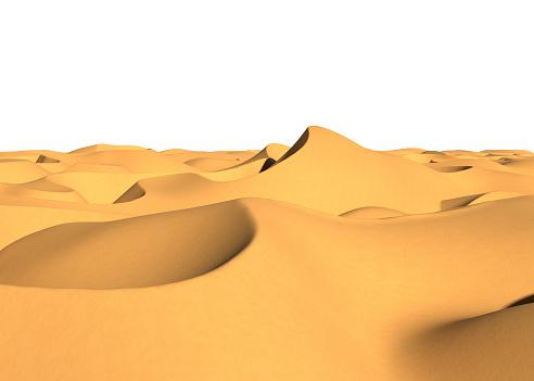 desert dunes 3d rendering