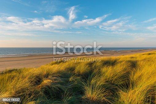istock Dunes at sunset - Belgium 660419002