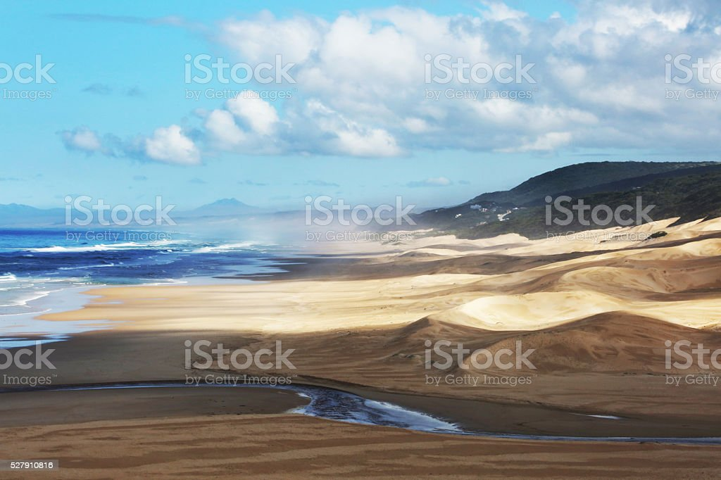 Dunes at the Cape South Africa Coast stock photo