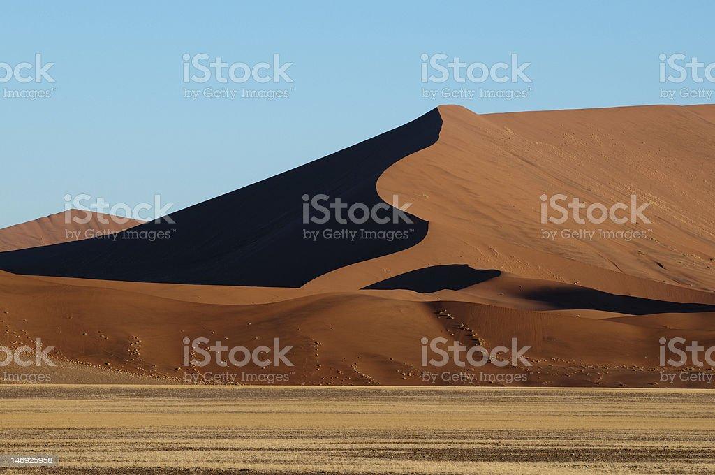Dunes in the desert royalty-free stock photo