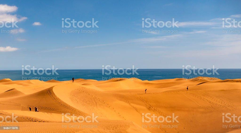 Dunes of maspalomas - Canary Islands, Spain stock photo