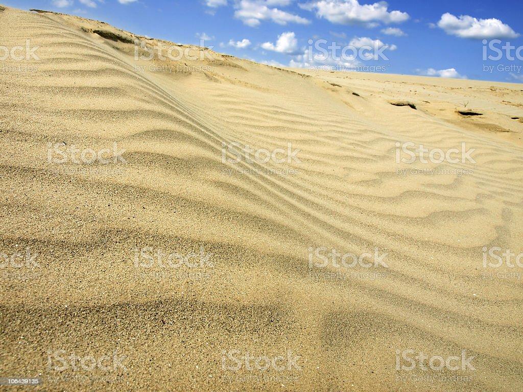 Dunes of the Sahara royalty-free stock photo