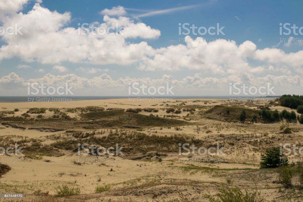 dunes on the Baltic sea stock photo