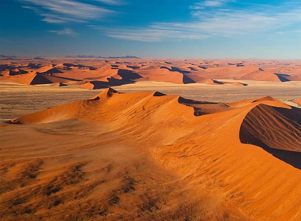 Dunes Dunes from Namib desert, Namibia. View from plane. namib desert stock pictures, royalty-free photos & images