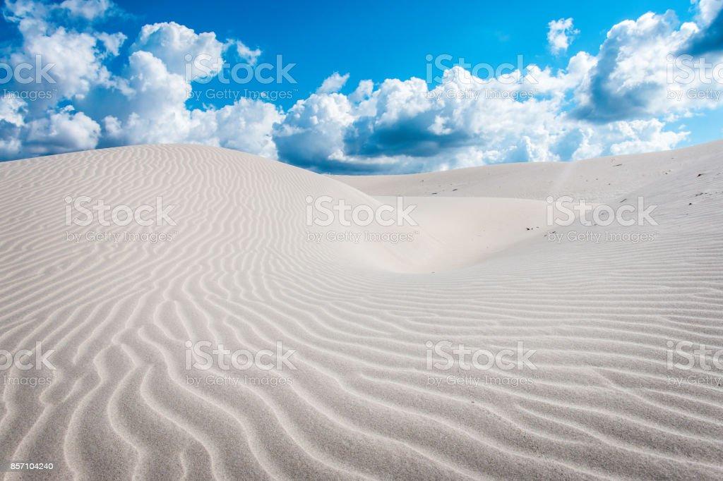 Dunes, Porto Pino, Italy, Sardinia stock photo