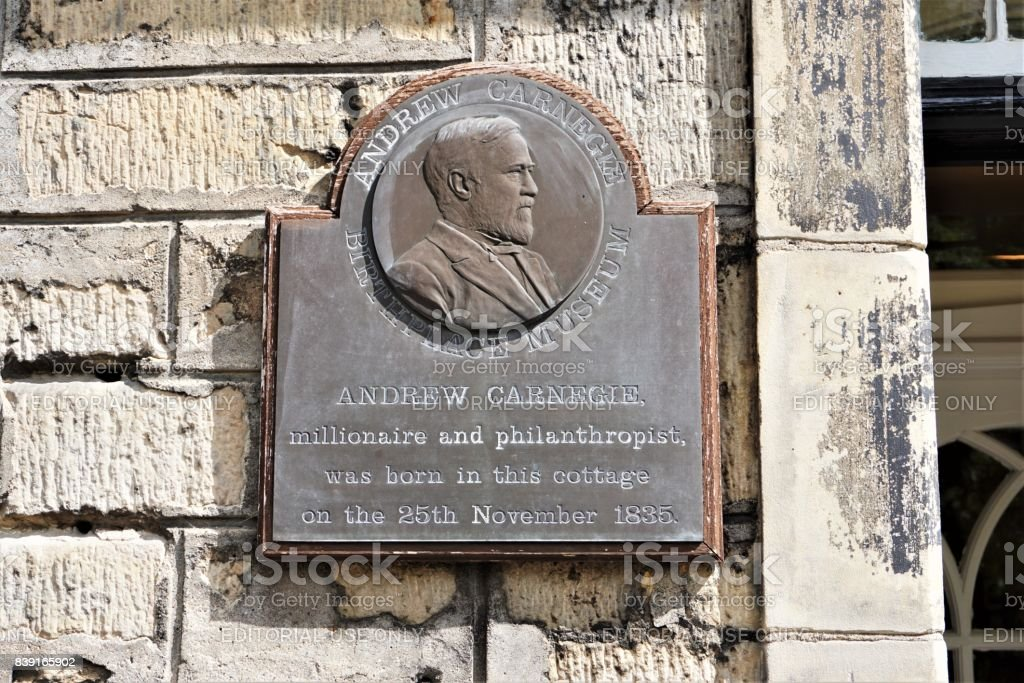 Dunfermline, Andrew Carnegie's birth place stock photo