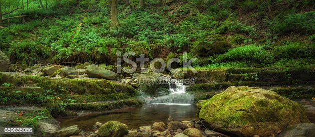 Beautiful stream near Mount Tammany, New Jersey.