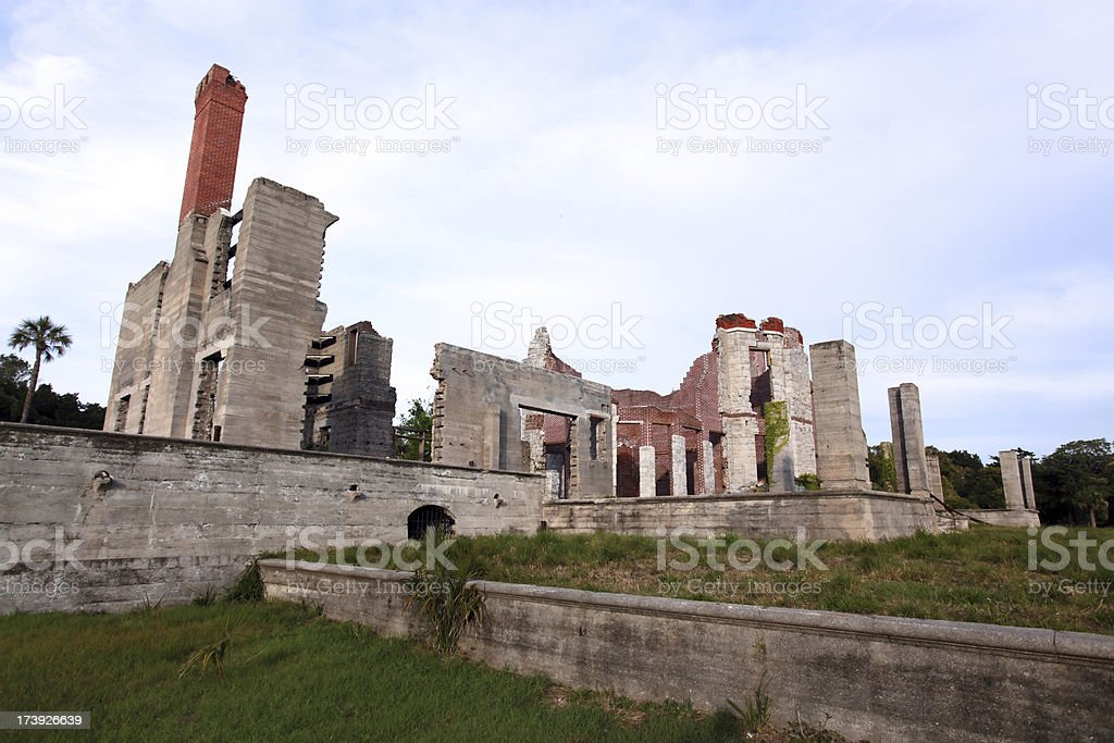 Dungeness Ruins, Cumberland Island stock photo