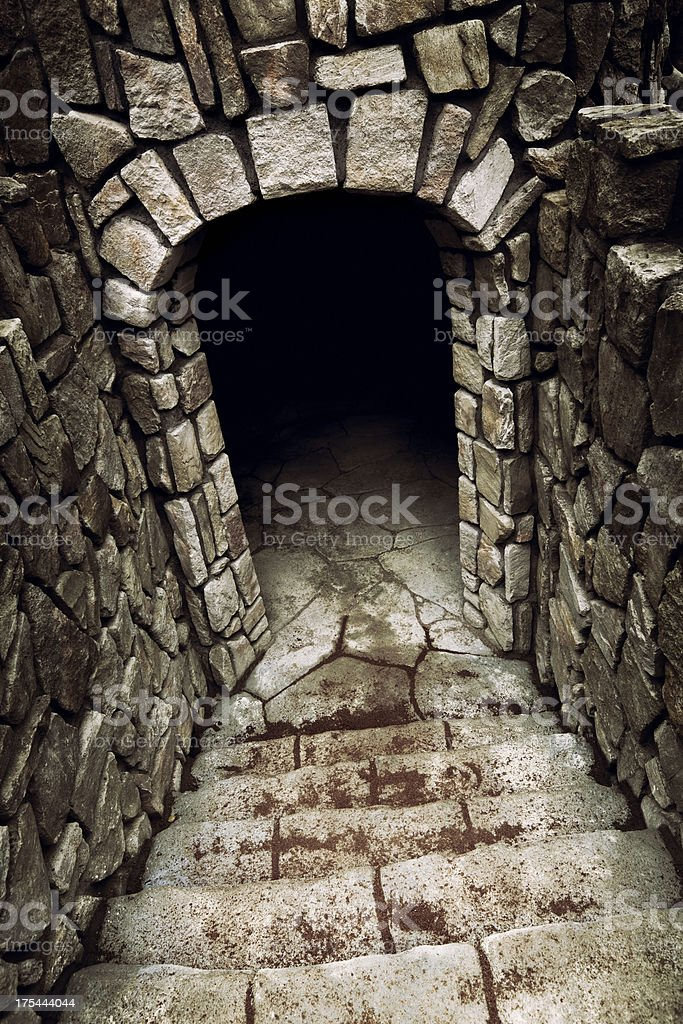 Dungeon entrance stock photo