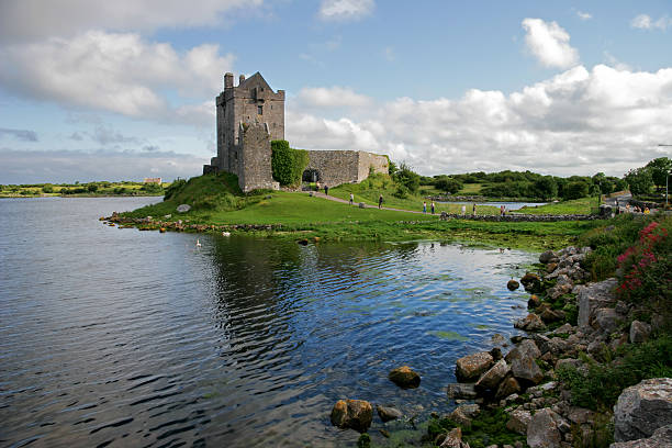 Dunguaire Castle in Ireland with a water view stock photo