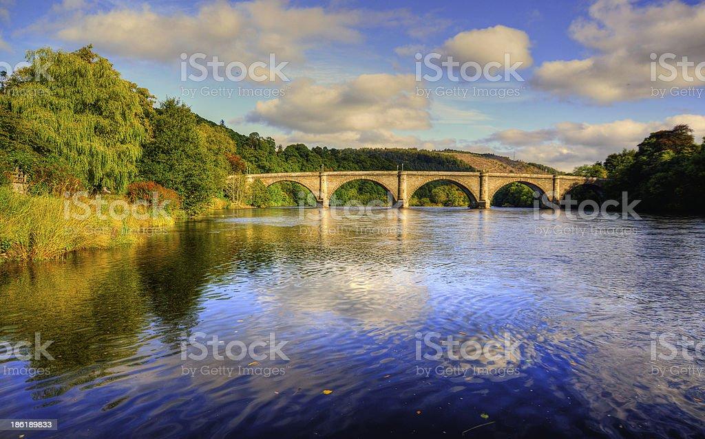 Dunkeld Bridge stock photo