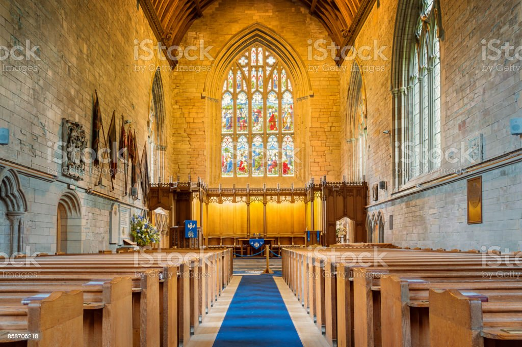 Dunkeld Cathedral in Dunkeld Scotland UK stock photo