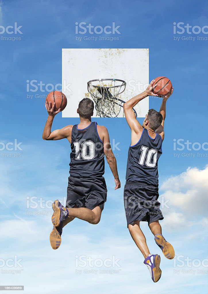 dunkers royalty-free stock photo