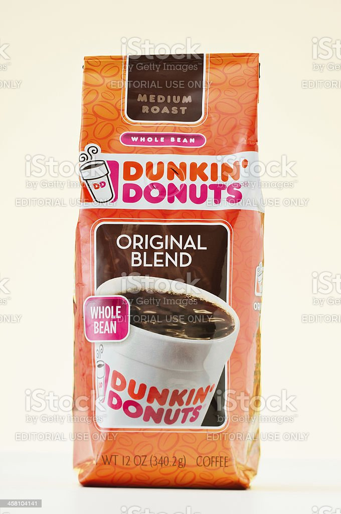 Dunkin' Donuts Coffee Bag royalty-free stock photo