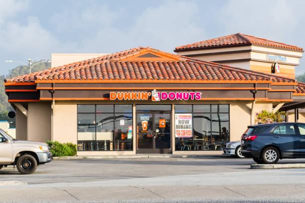 Dunkin' Donuts location stock photo
