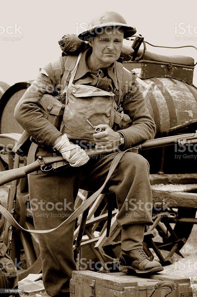 Dunkirk Soldier. stock photo