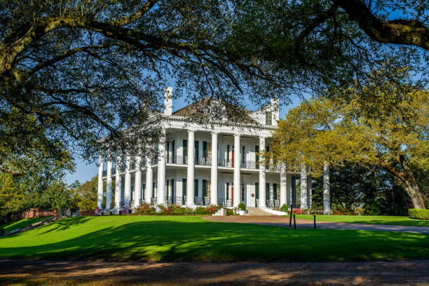 dunleith historic inn, natchez, mississippi - south stock pictures, royalty-free photos & images