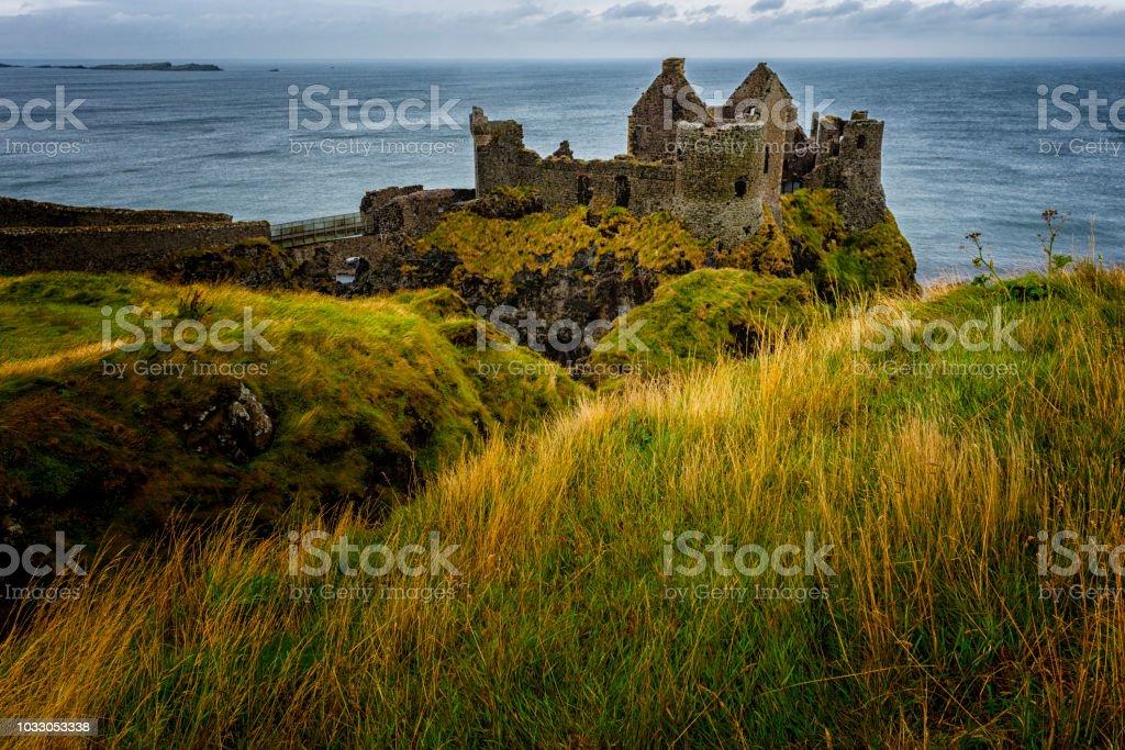 Dunluce Caste in Northern Ireland stock photo