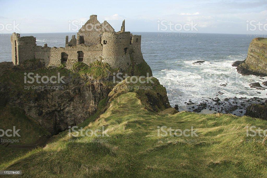 Dunluce Castle in County Antrim, Ireland stock photo