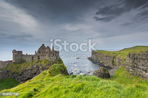 County Antrim, Dunluce Castle, Republic of Ireland, UK, At The Edge Of