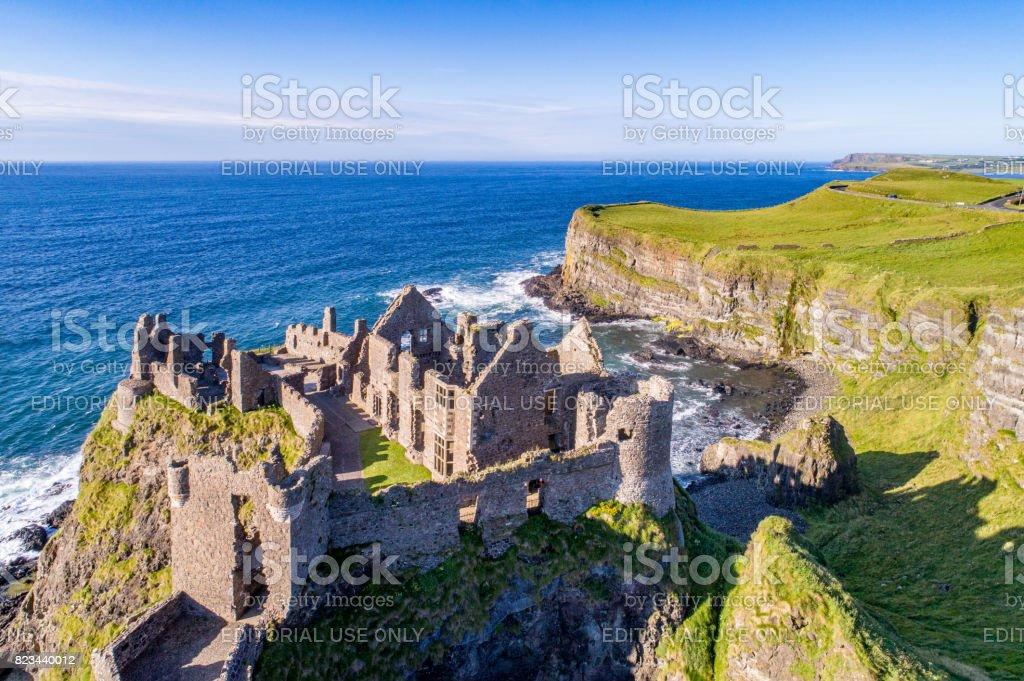 Dunluce Castle, Northern Ireland, UK stock photo