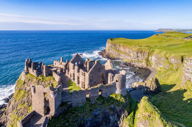 Dunluce Castle, Northern Ireland, UK stock photo
