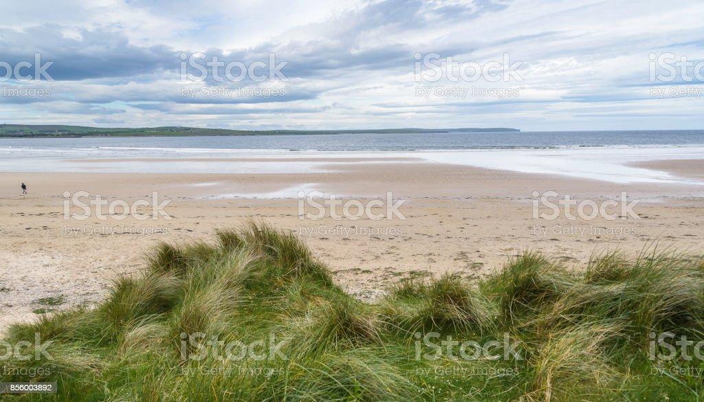 Dunnet bay beach landscape stock photo
