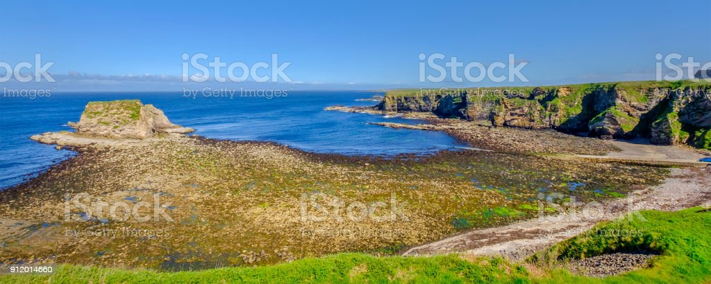 Dunnet Head promontory, on the north coast of the Scottish Highlands stock photo
