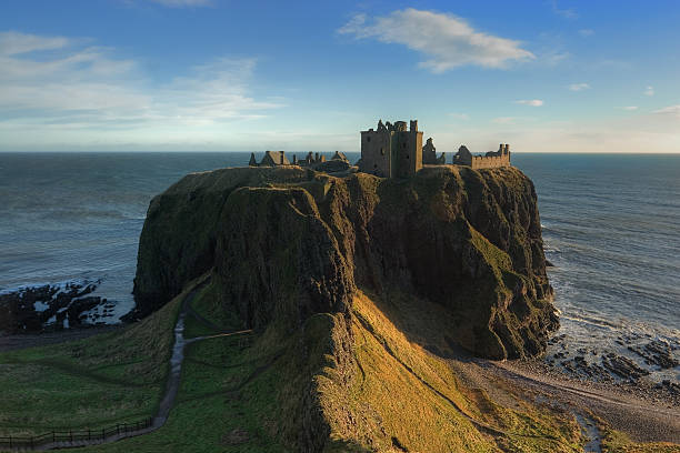Dunnottar by Morning stock photo