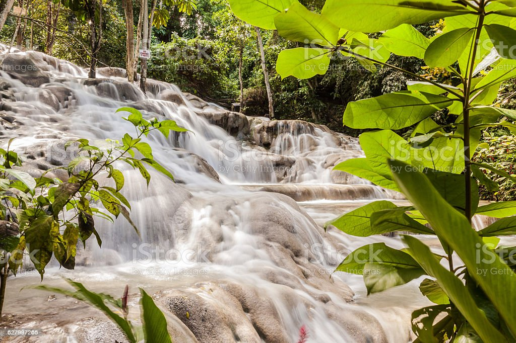 Dunn's River Falls in Jamaica royalty-free stock photo