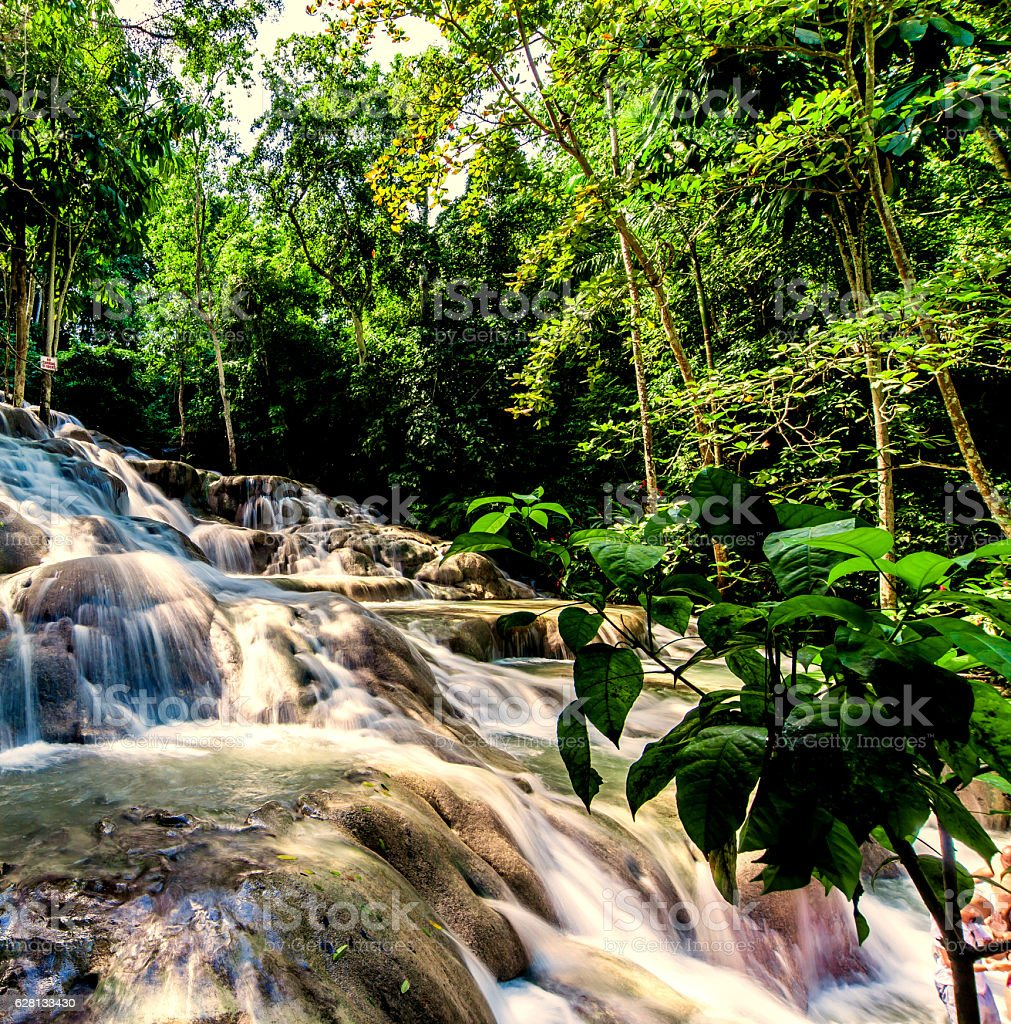 Dunn's River Falls in Jamaica - foto de stock