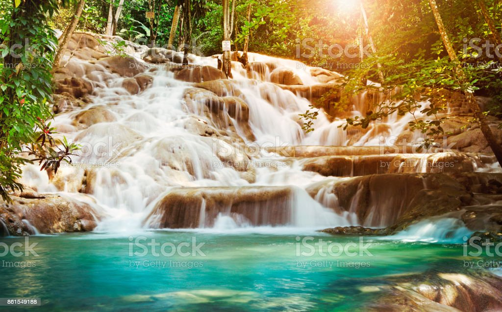 Dunn River Falls en Jamaica - foto de stock