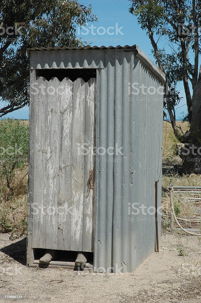 Dunny Outdoor toilet, longdrop outhouse royalty-free stock photo