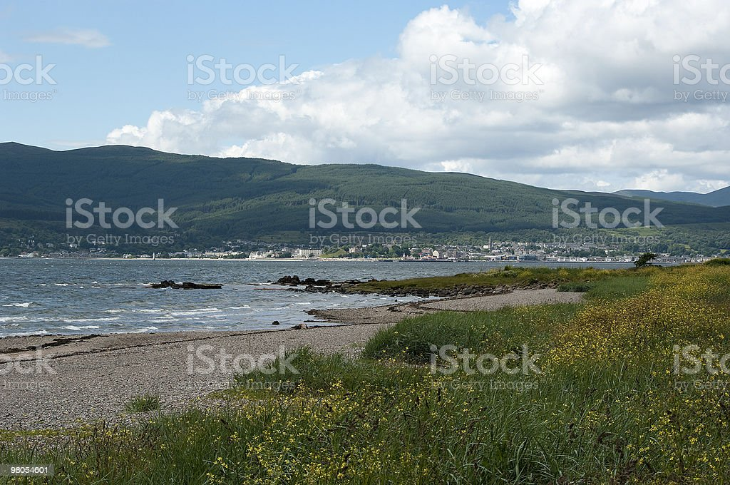 Dunoon from Cardwell Bay royalty-free stock photo