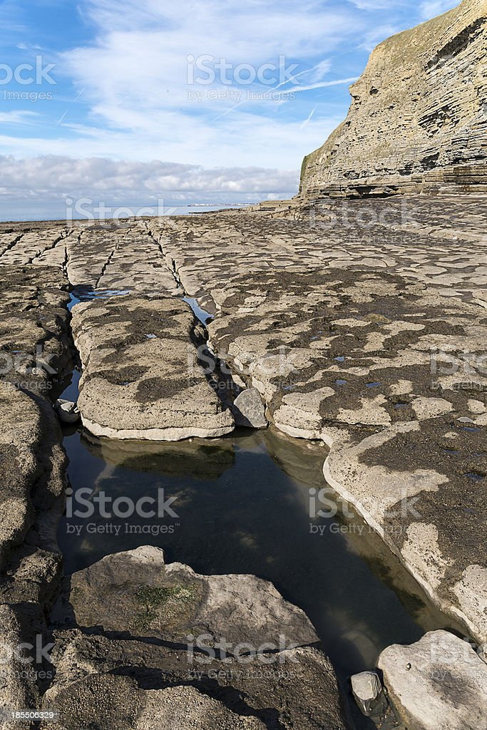 Dunraven Bay in the Vale of Glamorgan, Wales stock photo