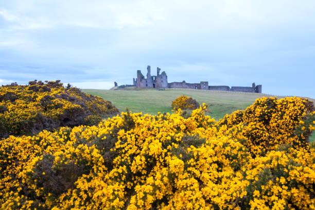 Dunstanburgh castle England stock photo