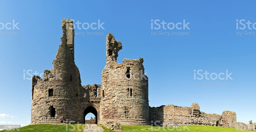 Dunstanburgh Castle, Northumberland, UK stock photo