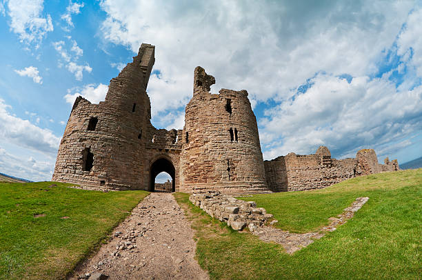 Dunstanburgh Castle, Northumberland, UK stock photo