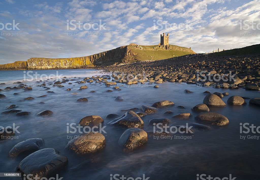 Dunstanburgh Castle. stock photo