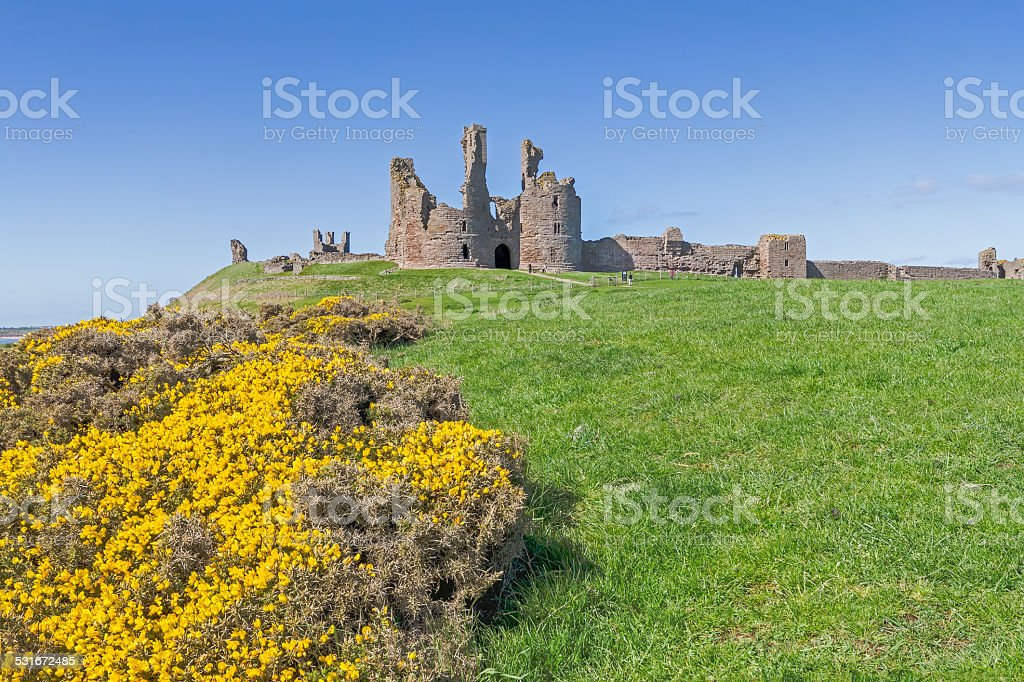 Dunstanburgh Castle stock photo