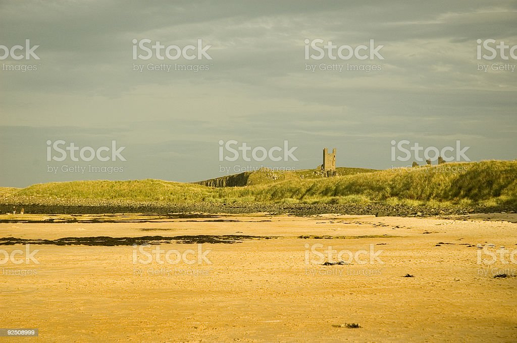 Dunstanburgh Castle royalty-free stock photo