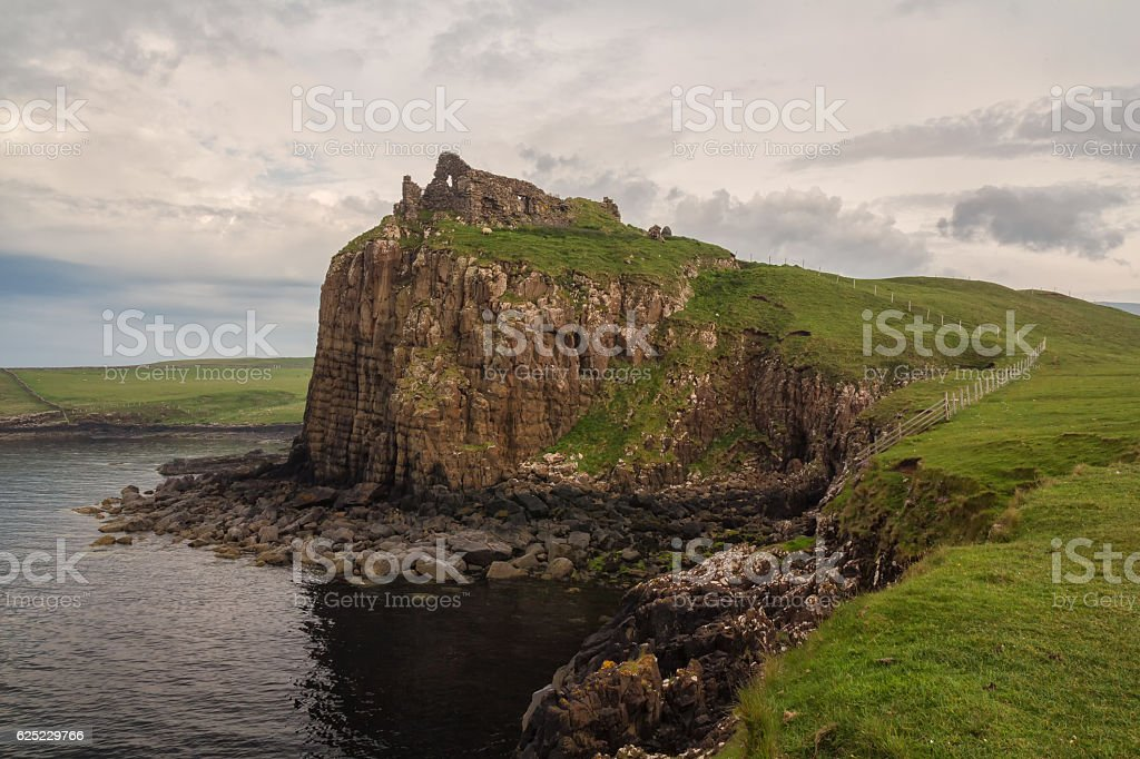 Duntulm Castle in the north of Skye stock photo