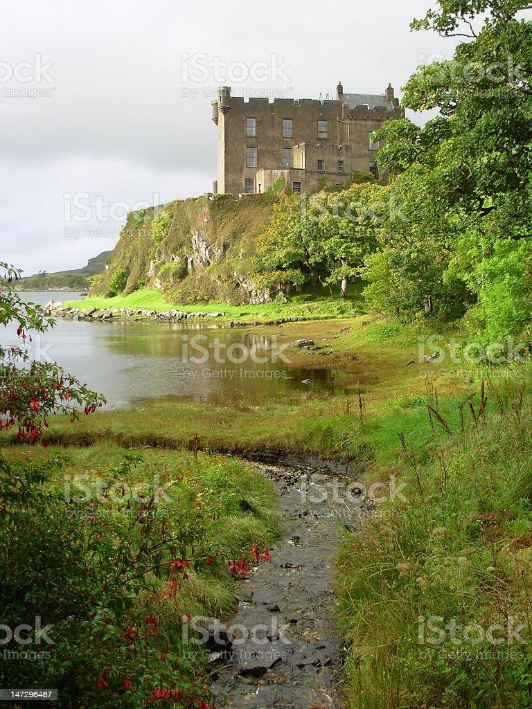 Dunvegan Castle, Isle of Skye, Scotland stock photo
