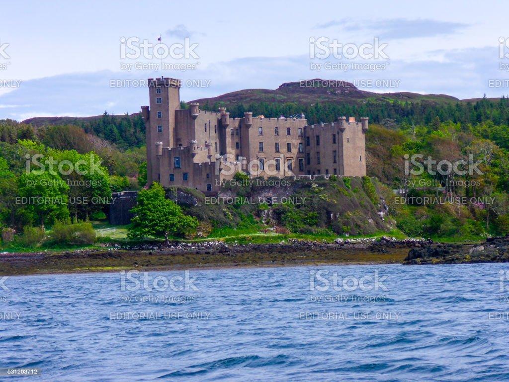 Dunvegan Castle on the Isle of Skye, Highlands, Scotland stock photo