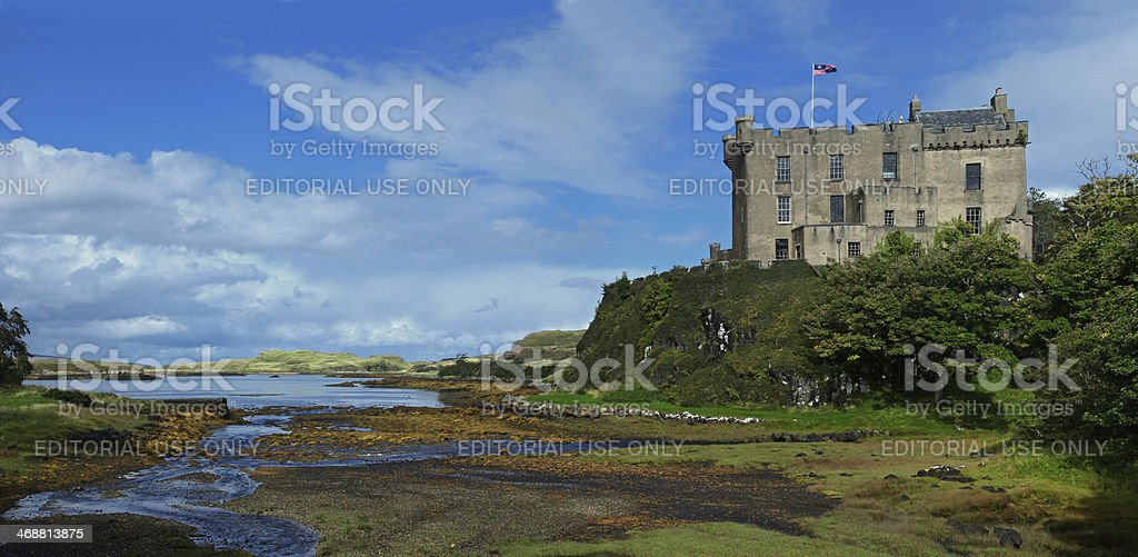 Dunvegan castle on the Isle of Skye, Scotland stock photo